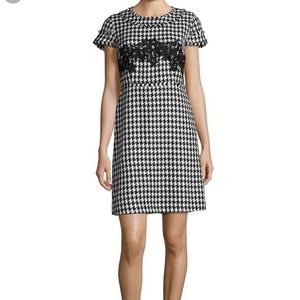 Karl Lagerfeld Paris houndstooth tweed dress Sz 12